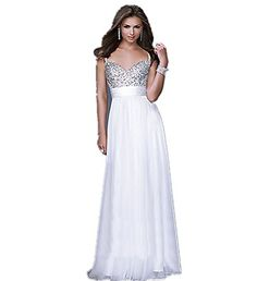 LondonProm ll7 beading Pink blue Evening Dresses party full length prom gown ball dress robe (14, White) LondonProm http://www.amazon.co.uk/dp/B00NNYRK08/ref=cm_sw_r_pi_dp_-lejub1FKPK86