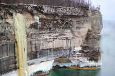 Ice Fest! There's nothing quite like ice climbing on Pictured Rocks.