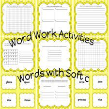 Soft c Word Work by Fluttering Through the Common Core K - 3 | TpT
