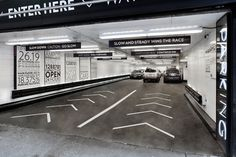 Parking at 13-17 East 54th Street by Pentagram Design