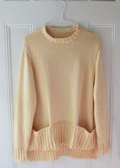 Nice pullover for Fall. Not too heavy. DK yarn. Easy Knitting Patterns, Knitting Stitches, Knitting Yarn, Crochet Yarn, Crochet Hooks, Cable Needle, Plymouth Yarn, Lang Yarns, Cascade Yarn