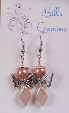 pearl Christmas Angel earrings