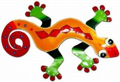 Red Diamond Gecko Wall Decor by Garden Fun. $24.99. Back in Stock! If diamonds are a girl's best friend, then this Red Diamond Gecko Wall Decor will definitely impress! A wonderful complimentary metal gecko to balance out the colors of our ever popular Blue Gecko designs!This fabulous Metal Gecko has been hand crafted and hand-painted with vibrant colors and meticulous detail. As all good hanging metal wall art should, this Gecko art piece comes with an attache...