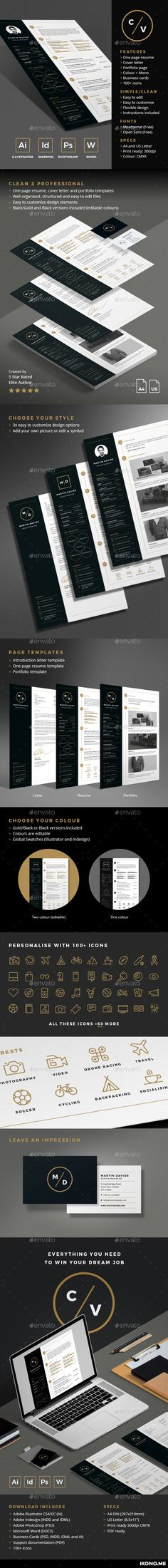 3 Page Business Resume With 3 Color Combinations | Business Resume