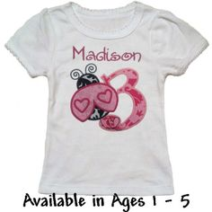 Pink Ladybug Baby & Toddler Birthday T-shirt