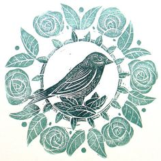 My Owl Barn: Linocuts by Mangle Prints