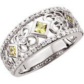 14kt white gold, yellow Sapphires and diamonds