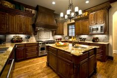 Traditional Kitchen with Hinkley Lighting 3508OL Olde Black Casa Casa 6 Light 1 Tier Candle Style Pillar Candle Chandelier