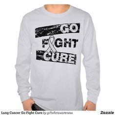 Lung Cancer Go Fight Cure T-shirt by www.giftsforawareness.com