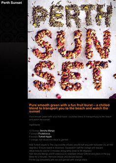 T2 Perth Sunset Recipe Iced Tea Recipes, Ice T, Drinking Tea, Perth, Tea Cups, Sunset, Drinks, Food, Sunsets