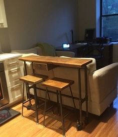 Kitchen Table Urban bar stool for counter height, bar height or table height. Counter Height Table Sets, Pub Table Sets, Counter Height Stools, Stool Height, Table Height, Counter Top, Bar Tables, Bar Stool Chairs, Wood Stool