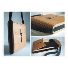 Notebook-Case, Aktentasche adAkta aus Holz.