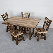 Viking recently added this solid hickory log dining set to their offerings.  It carries a lifetime guarantee.