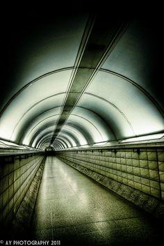 London Underground - Bank-Monument Underground Station, London, England