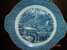 Currier and Ives Dishes Worth | See the small card with the code on it? The seller printed that out ...
