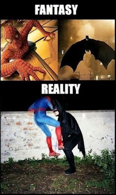 caught batman and spiderman behind the scene