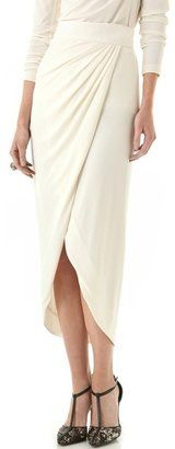 ShopStyle: Rachel zoe Abbey Wrap Maxi Skirt