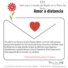 Ideas de textos para tu tarjeta de regalo, si decides enviar o mandar un ramo de flores a domicilio. ¡ Sorpresa garantizada!