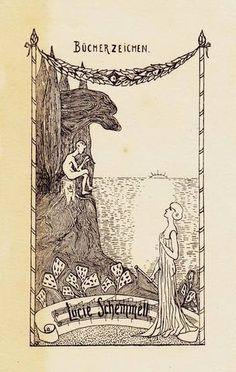 Bookplate by Emil Orlik (1870-1932)