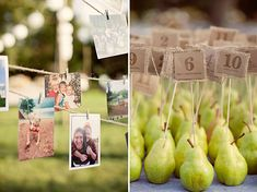 Pear Escort Cards - Handmade Pennsylvania Wedding: Crystal + Andrew by Char Photography - via greenweddingshoes