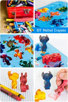 Melted Crayons - by Craft & Creativity, fun for when babysitting