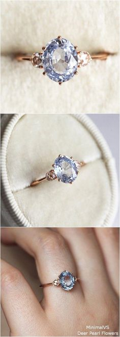 Moissanite Engagement Ring Women Vintage Engagement Ring Art deco Round Halo Ring Wedding Bridal Anniversary Valentine's Day Gift for Her - Fine Jewelry Ideas Blue Sapphire Engagement Ring with Rose Cut Diamonds Unique Diamond Rings, Rose Gold Diamond Ring, Unique Rings, Diamond Flower, Diamond Jewelry, Gold Jewelry, Morganite Engagement, Vintage Engagement Rings, Vintage Rings