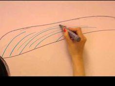 Microblading - pomocne techniki rysunku brwi. - YouTube