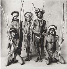 Five Okapa Warriors, New Guinea, 1971 by Irving Penn