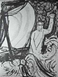 Otto Dix Lithograph From Das Evangelium nach Matthaeus (Kaethe Vogt Verlag, Berlin: 1960)