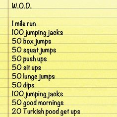 Crossfit WOD (Workout Of the Day)