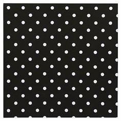 """Style Tile 2.0, 16x16"""", Fabric Board, Black Dottie"""