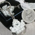 "Queen for a day"" Sparkling Tiara keychain favor