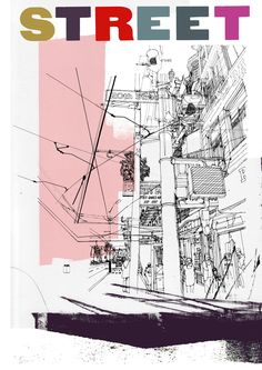 Examples Of Landscape Architecture Drawings Landscape Architecture Drawing, Architecture Sketches, Cityscape Art, Hand Drawn Type, A Level Art, Urban Landscape, Art Sketchbook, Print Pictures, Lovers Art