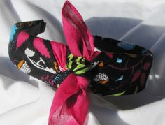 Whimsical Knot Tie Headband Bandana Head Wrap Rock by shirkdesigns (Accessories, Hair Accessories, Headbands, bandana, bandana headband, paisley bandana, bandana headwrap, pinup headband, bandana tie headband, rosie the riveter, hairband, headwrap, rose, FLORAL, WHIMSICAL)