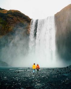 Outdoor Travel photography Top 7 Most Beautiful Waterfalls in Iceland Island Travel, Iceland Photos, Iceland Waterfalls, Beautiful Waterfalls, Travel Couple, Family Travel, Travel Photography, Landscape Photography, Aerial Photography