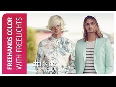 Freehand Hair Color with Blondor Freelights by Wella Professionals - YouTube