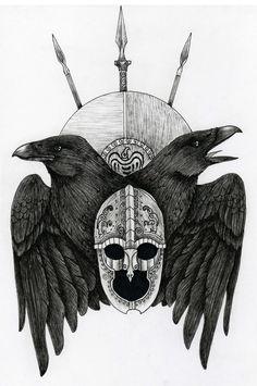 odin's ravens | Tumblr Tattoo Ideas Tattoo Frontrunn Odin Ravens ...