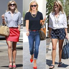 Reese Witherspoon& Street Style Is More American Than Apple Pie Reese Witherspoon's Street Style Is More American Than Apple Pie Source by amiemariej Look Fashion, Fashion Outfits, Womens Fashion, Fashion Images, Hijab Fashion, Fashion Fashion, Vintage Fashion, Preppy Style, Mom Style