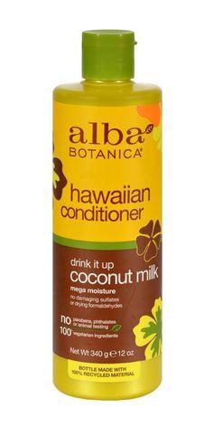 Alba Botanica Hawaiian Hair Conditioner Coconut Milk - 12 Fl Oz
