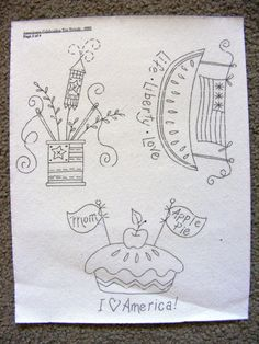 5 Patriotic Embroidery Designs for Tea Towels
