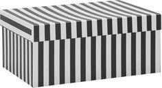 <p>Stylischer Minimalismus – damit besticht diese <b>Box in Schwarz und Weiß</b>. Bei einer Größe von ca.<b> 25,5x18x11cm </b>(L x B x H) bietet die Box genügend Platz für Accessoires, Unterlagen oder Schmuck. <b>Aus Karton gefertigt </b>ist sie darüber hinaus auch noch besonders leicht und trotzdem robust.</p>