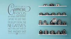 Muursticker Life is like a Camera http://www.101woonstickers.nl/a-40038535/muurstickers/muursticker-life-is-like-a-camera/