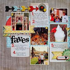 #papercraft #Scrapbook #layout.  using 3x4 cards