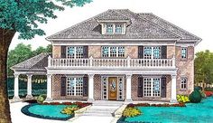 Plantation Style House Plans - 3322 Square Foot Home , 2 Story, 4 Bedroom and 4 Bath, 3 Garage Stalls, upstairs master, rear garage, guest suite
