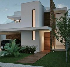 Architecture Exterior 36 Amazing Modern Home Design Exterior Ideas Minimalist House Design, Minimalist Home, Modern House Design, Home Design, Facade Design, Exterior Design, Town Country Haus, House Front Design, Modern House Plans
