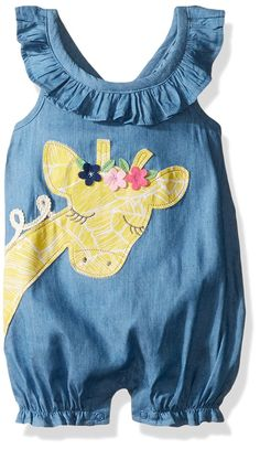 Mud Pie Baby Girls' Bubble Romper, Giraffe, Months: These stylish one piece bubbles from Mud Pie are both comfy and convenient! With inner leg snap closures, diaper changing is a breeze. Little Kid Fashion, Little Girl Outfits, Toddler Fashion, Toddler Outfits, Kids Outfits, Kids Fashion, Baby Girl Romper, Baby Dress, Baby Girls