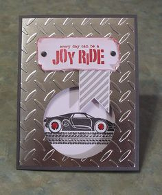 Handmade Maculine Birthday Card - Stampin' Up Rev Up The Fun - Race Car #Handmade #BirthdayAdult