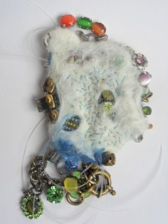 Transformation Project: felting to encase objects by Andrea Butler. Join in at http://www.accessart.org.uk