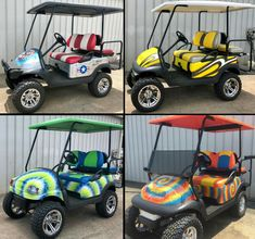 Custom Golf Carts Gallery   Golf Cars of Hickory Best Golf Cart, Custom Golf Carts, New Golf, Cars, Gallery, Sport Cars, Sports, Roof Rack, Autos
