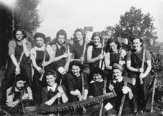 A group of Land Girls at Garlieston During the war 1941-42 - they called them LumberJills